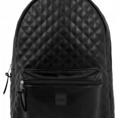 Diamond Quilt Leather Imitation Backpack Urban Classics ONE SIZE EU