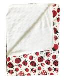 Cumpara ieftin Paturica dubla de iarna 90x70 cm Deseda Buburuze rosu/negru