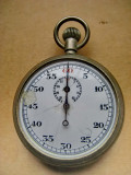 B133-Cronometru Ceas buzunar barbat functional marca M vechi anii 1900 alpaca.