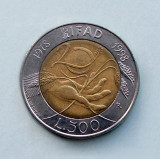 ITALIA  -  500 Lire 1998  -  FAO