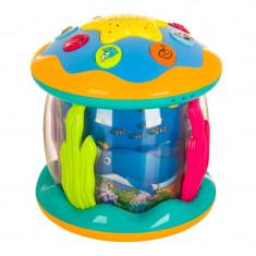 Jucarie interactiva tip proiector, 16 cm, model marin, 18 luni+
