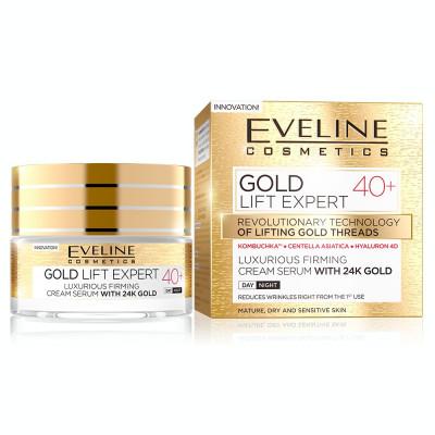 Crema luxurianta de intinerire Eveline Cosmetics Gold Lift Expert cu aur de 24K 40+ 50 ML foto