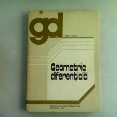 GEOMETRIE DIFERENTIALA - DAN I. PAPUC