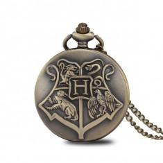 Ceas de buzunar,Harry -Potter Hogwarts School, model Retro Vintage