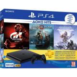 Consola PlayStation 4 Slim 500GB + Gran Turismo Sport + God of War + Horizon Zero Dawn Complete