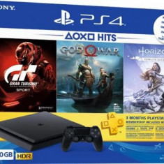 Consola PlayStation 4 Slim 500GB + Gran Turismo Sport + God of War + Horizon Zero Dawn Complete