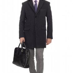 Palton Barbati B165 Negru