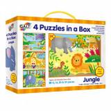 Set 4 puzzle-uri Jungla (12, 16, 20, 24 piese), Galt