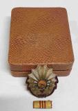 Set COMPLET Medalie -Cutie, Bareta -model RPR tip 2 anul 1952-1955 piesa SUPERBA