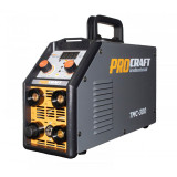 Invertor 3 in 1 Procraft TMC 300, 300 A, MMA, TIG, Plasma, electrozi 1.6 - 5 mm, afisaj electronic, IP 21