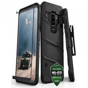 Husa Samsung Galaxy S9 Plus Folie SticlaZizo Bolt Cover Neagra