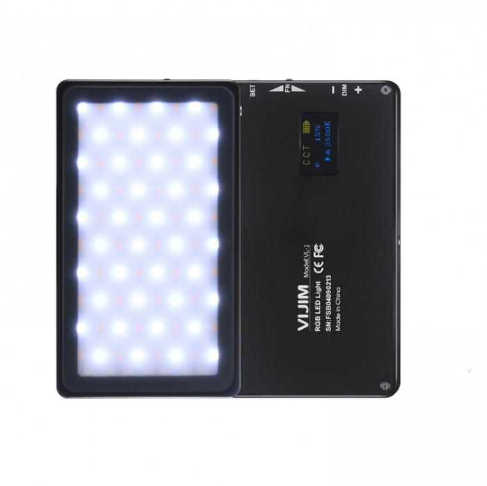 Lampa LED Ulanzi VIJIM VL-2 temperatura de culoare reglabila 2500K-8500K RGB -1496