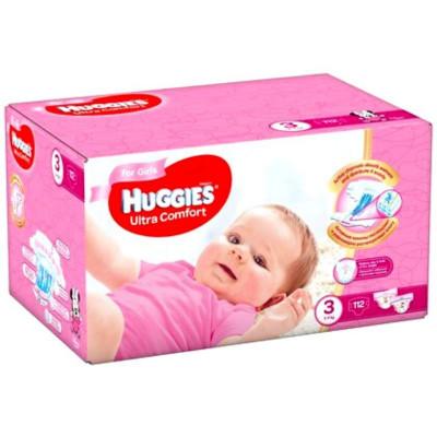 Scutece Huggies Ultra Comfort Nr.3, Fetite, 5-9 kg, 112 buc foto