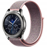 Curea ceas Smartwatch Samsung Gear S2, iUni 20 mm Soft Nylon Sport, Soft Pink