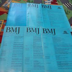 REVISTA BRITISH MEDICAL JOURNAL BMJ EDITIE LIMBA ROMANA LOT 6 BUC