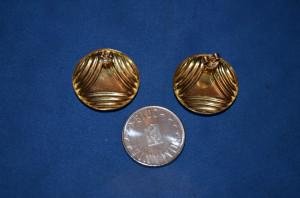 CERCEI AUR 18K - Rotunzi - Mari - 2.2 cm - diametrul - 3.8g. - 184lei/gr. !