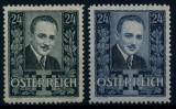 AUSTRIA 1934 DOLFUSS , PERSONALITATI , EVENIMENTE SERIE COMPLETA NESTAMPILATA