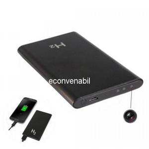 Baterie Externa Power Bank cu Inregistrare Camera Ascunsa H2