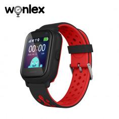 Ceas Smartwatch Pentru Copii Wonlex KT04 cu Functie Telefon, GPS, Camera, IP54 - Negru, Cartela SIM Cadou