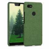 Husa pentru Google Pixel 3 XL, Textil, Verde, 46738.07
