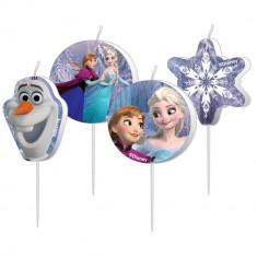 Lumanari aniversare pentru tort figurine Frozen, Radar 999257, Set 4 buc