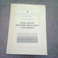 MIJLOACE AGROTEHNICE PENTRU SPORIREA PRODUCTIEI AGRICOLE IN CAMPIA BARAGANULUI (INDRUMARI TEHNICE)