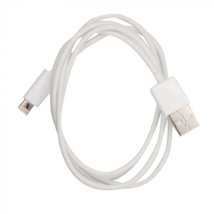 Cablu Date & Incarcare Rotund APPLE Lightning - 1 Metru (Alb)