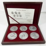 Set 6 Medalii Domnitorii Romaniei Dracula Stefan Cel Mare Cantemir Vasile Lupu