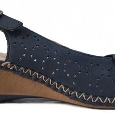 Sandale dama cu talpa ortopedica Rieker 66178 bleumarin