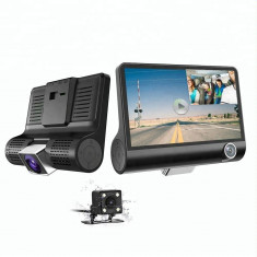 Camera Auto Tripla Blackbox, Full-HD, 3 Camere, 4'' G Senzor, 170 grade