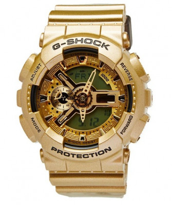 CEAS SPORT CASIO G-SHOCK GA-110 GOLD MATE-NOU-BACKLIGHT-MODEL 2019-POZE REALE ! foto