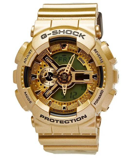 CEAS SPORT CASIO G-SHOCK GA-110 GOLD MATE-NOU-BACKLIGHT-MODEL 2019-POZE REALE !