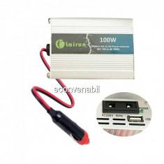 Invertor AUTO 100W cu USB