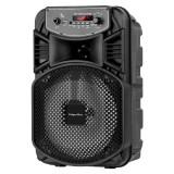 Cumpara ieftin Boxa Bluetooth Music Box Kruger & Marz, 10 W, 8 inch + 1 inch, AUX, USB 2.0, intrare microfon, Negru