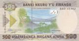 Bancnota Rwanda 500 Franci 2019 - PNew UNC ( desen nou )