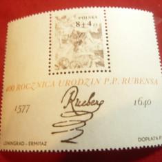 Bloc Polonia 1977 - Pictura-  400 Ani Rubens