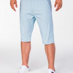 Pantaloni scurti pentru barbati bleu casual model de vara slim fit buzunare laterale P402