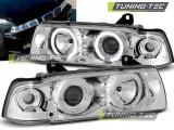 Faruri compatibile cu BMW Seria 3 E36 Sedan 12.90-08.99 Angel Eyes Crom
