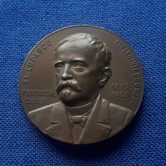 Medalie Al. Lupascu - Societatea Transilvania - tema patriotica - regalista