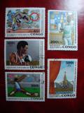 CONGO 1980 OLIMPIADA MOSCOVA, Stampilat