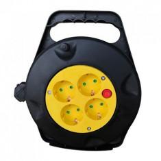 Prelungitor cu tambur 10m, 3x1.5mm, v-tac