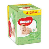 Servetele umede Huggies BW Natural Care, 4+2 pachete, 336 buc
