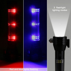 Lanterna LED CREE 3W, 9 in 1 reincarcabila, alarma, functie powerbank, cutter