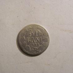 CY - 50 bani 1884 Romania Carol I / rara