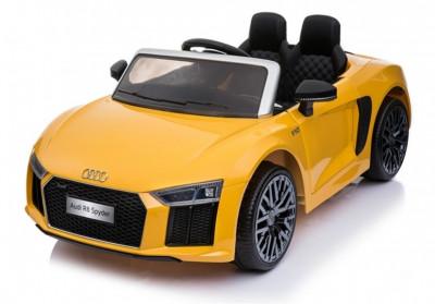 Masinuta electrica Audi R8, galben foto
