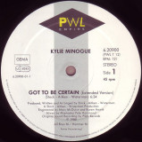 Kylie Minogue - Got to be certain (1988, Teldec) disc vinil Maxi Single