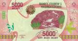 MADAGASCAR █ bancnota █ 5000 Ariary █ 2017 █ P-102 █ UNC █ necirculata