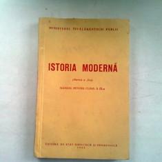 ISTORIA MODERNA - MANUAL PENTRU CLASA A IX-A, 1952