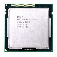 Procesor Intel® Quad Core i7 2600 Sandy Bridge, 3.4GHz, socket 1155, cooler, Intel Core i5, 4