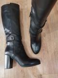 LICHIDARE STOC ! Superbe cizme dama noi piele naturala integral 38
